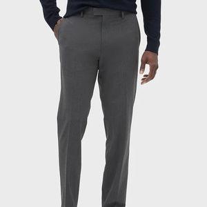 Banana Republic Slim-Fit Gray Pinstripe Pants